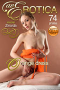 avErotica gallery - Orange dress - 74 photos - Zinaida