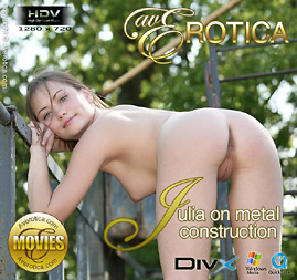 avErotica movie - Julia on metal construction - Julia