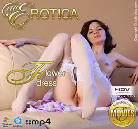 avErotica movie - Flower dress - Tinka